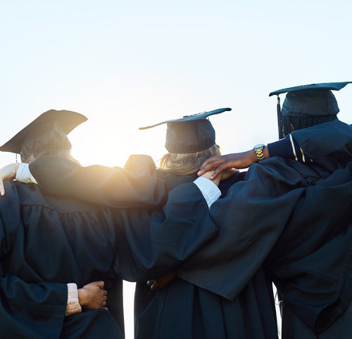 group of graduates standing