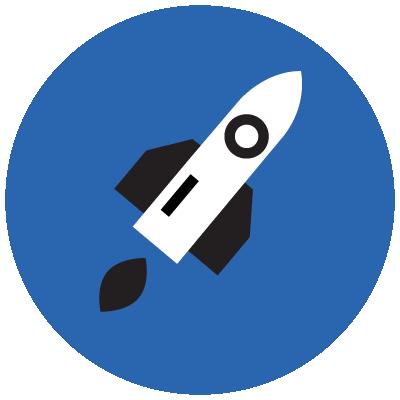 icon rocket ship
