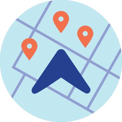 icon gps navigation